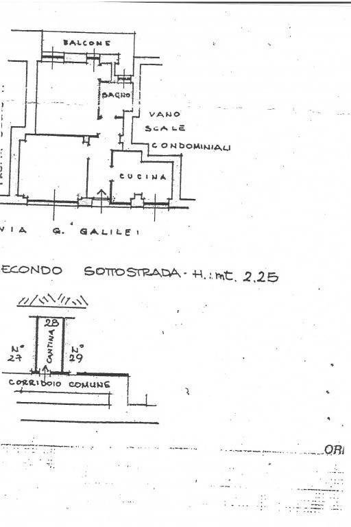 Sanremo vendita appartamento con cantina.