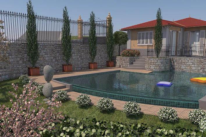 Sanremo vendesi VILLA in costruzione con piscina e vista mare